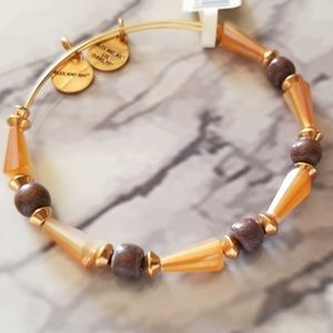 Alex and Ani seeds of promise bracelet in caramel